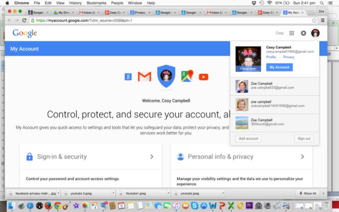 Google profile privacy