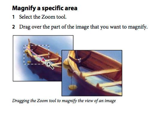 magnify a specific area