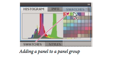 Manipulate panel groups